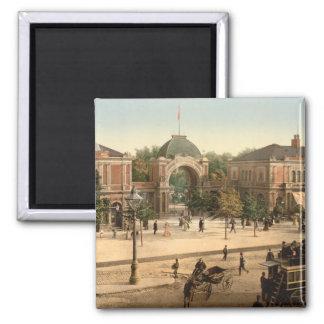Tivoli Park Entrance Copenhagen Square Magnet