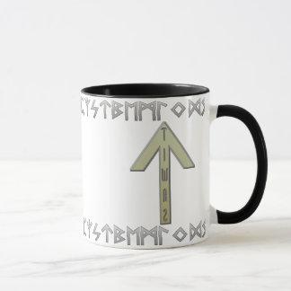 Tiwaz Rune gold Mug
