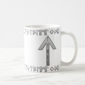 Tiwaz Rune grey Coffee Mug