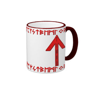 Tiwaz Rune red Mugs