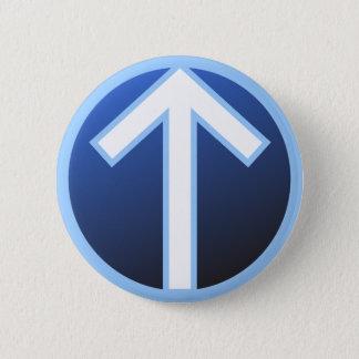 Tiwaz Teiwaz Tyr Warrior Rune 6 Cm Round Badge
