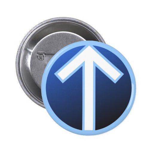 Tiwaz Teiwaz Tyr Warrior Rune Pin