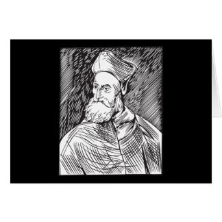 Tiziano Portrait of the cardinal Pietro Bembo Greeting Card