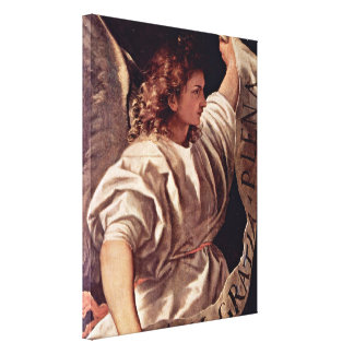 Tiziano Vecelli - Annunciation angel Gallery Wrapped Canvas