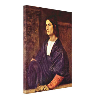 Tiziano Vecelli - Portrait of a Young Man Stretched Canvas Print