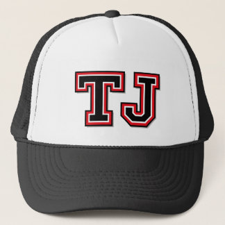 'TJ' Monogram Trucker Hat