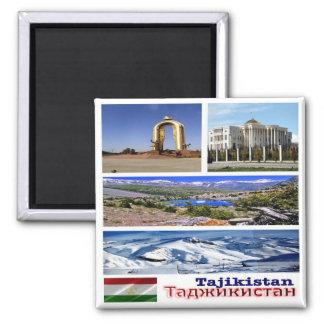 TJ - Tajikistan - Collage Mosaic Magnet