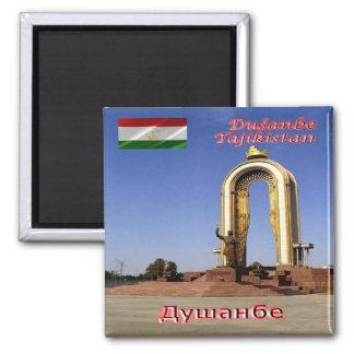 TJ - Tajikistan - Dushanbe - Somoni Monument Magnet