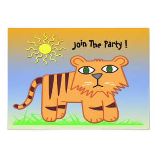 TJ the Tiger Cute Kid's Party Invitation