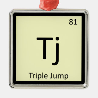 Tj - Triple Jump Track and Field Chemistry Symbol Christmas Ornament