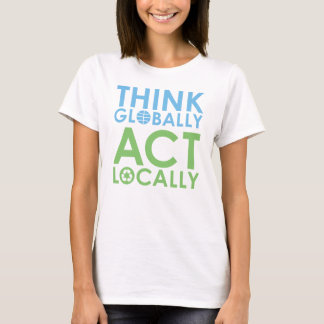 TJED Green/Blue Text Environmentalist T-shirt