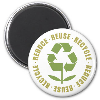 TJED Reduce Reuse Recycle [logo] 6 Cm Round Magnet