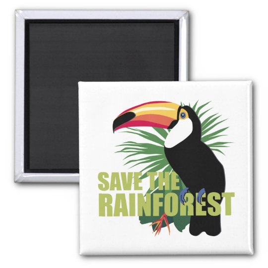TJED Save The Rainforest Square Magnet