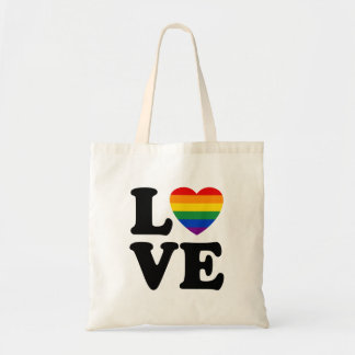 TJGL Rainbow Heart Love Tote Bag
