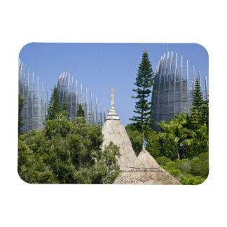 Tjibaou Cultural Centre, Noumea, New Caledonia 2 Rectangular Magnets