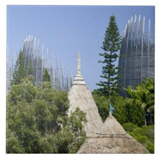 Tjibaou Cultural Centre, Noumea, New Caledonia 2 Large Square Tile