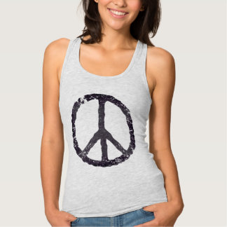 TJP Worn Black Peace Symbol Shirt