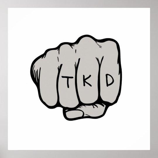 TKD Fist Poster Print