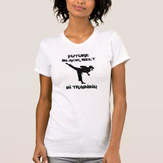 TKD GIRL FUTURE BLACK BELT WITH ATTITUDE T SHIRTS