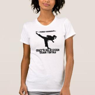 TKD Girl Kick with Attitude T-shirts