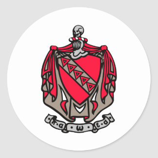 TKE Coat of Arms Classic Round Sticker