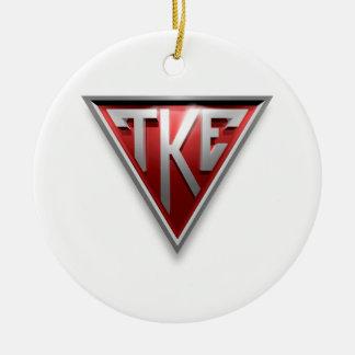 TKE Triangle Christmas Ornament