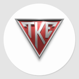 TKE Triangle Classic Round Sticker