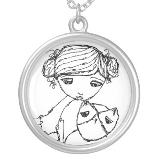 TKZE tiny owl necklace