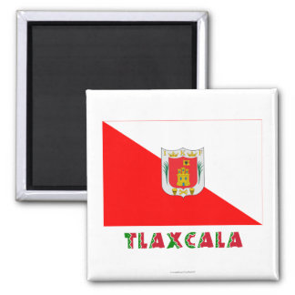 Tlaxcala Semiofficial Flag Fridge Magnets