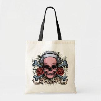 TLC Nurse Skull Budget Tote Bag