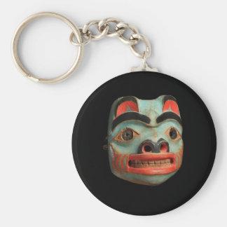 Tlingit Bear Mask Basic Round Button Key Ring
