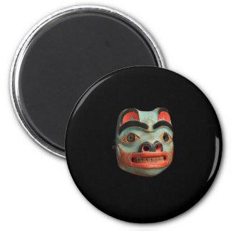 Tlingit Bear Mask 6 Cm Round Magnet