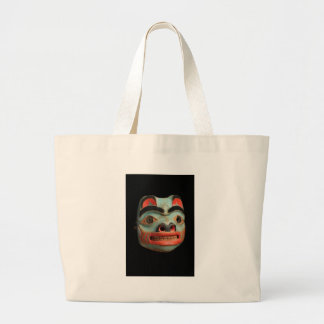 Tlingit Bear Mask Jumbo Tote Bag
