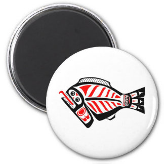 Tlingit Halibut 6 Cm Round Magnet