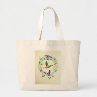 Tlingit Hummingbirds on a tote! Canvas Bags