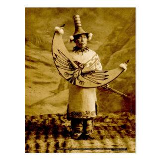 Tlingit Indian Skagway Alaska Vintage Postcard
