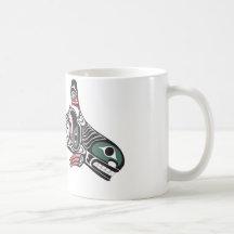 Tlingit Killer Whale & Eagle Basic White Mug