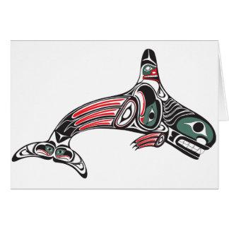 Tlingit Killer Whale & Eagle Card