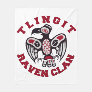 "Tlingit Raven Clan 50""x60"" Fleece Blanket"