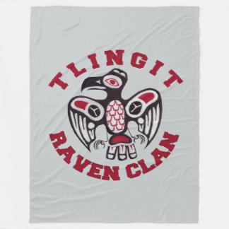 Tlingit Raven Clan 60x80 Fleece Blanket