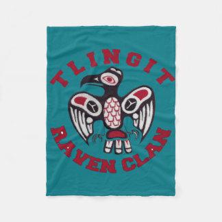 Tlingit Raven Clan Baby Blanket Fleece Blanket