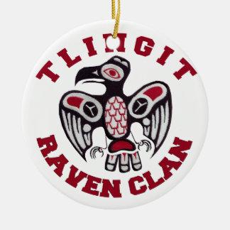 Tlingit Raven Clan Ceramic Ornament