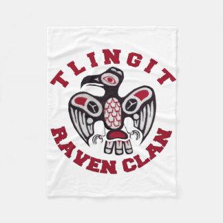 Tlingit Raven Clan Fleece Blanket