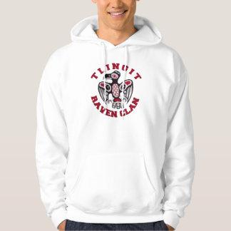 Tlingit Raven Clan Hooded Pullover