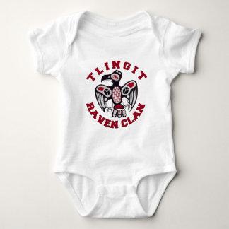 Tlingit Raven Clan Infant Body Suit Baby Bodysuit