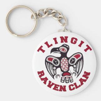 Tlingit Raven Clan Keychain