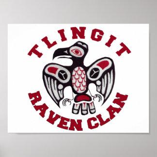 Tlingit Raven Clan Poster