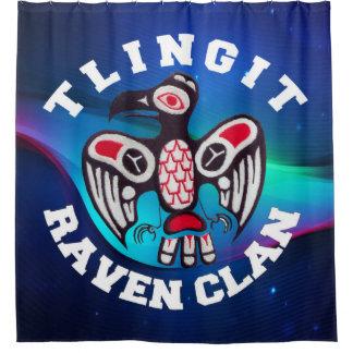 Tlingit Raven Clan Shower Curtain