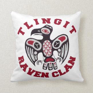 Tlingit Raven Clan Throw Pillow Cushion