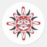 Tlingit Sun Round Stickers